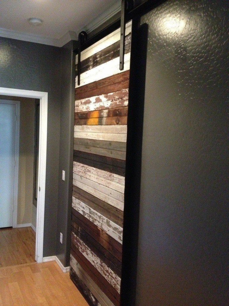 Reclaimed Mixed Beadboard Sliding Barn Door Porter Barn Wood
