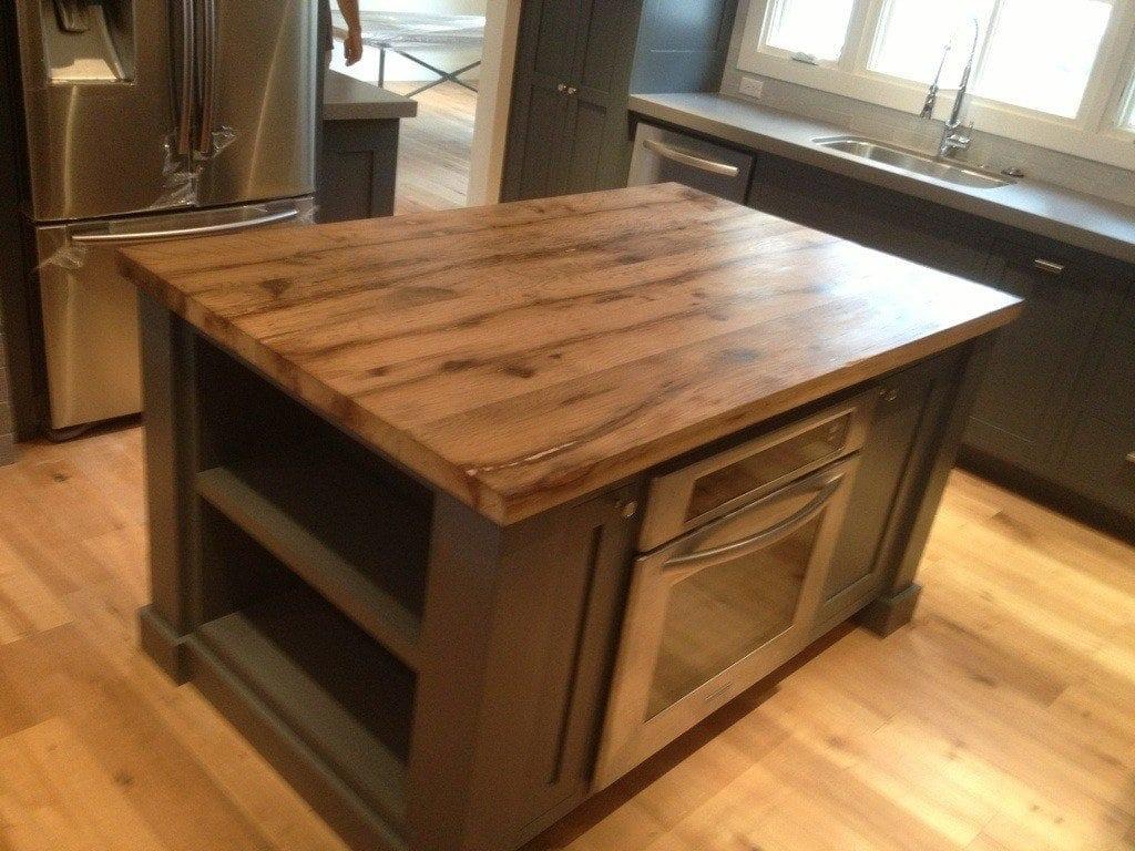 reclaimed white oak center island porter barn wood