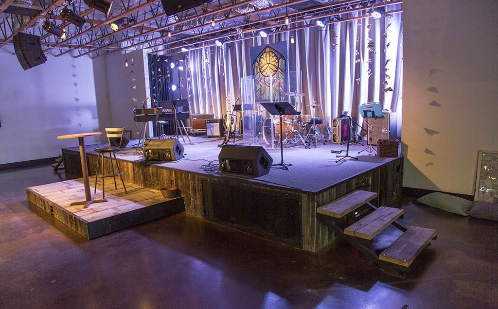 Porter Barn Wood New City Church Stage