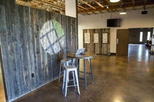 New City Church – Reclaimed Hemlock Accent Wood Wall