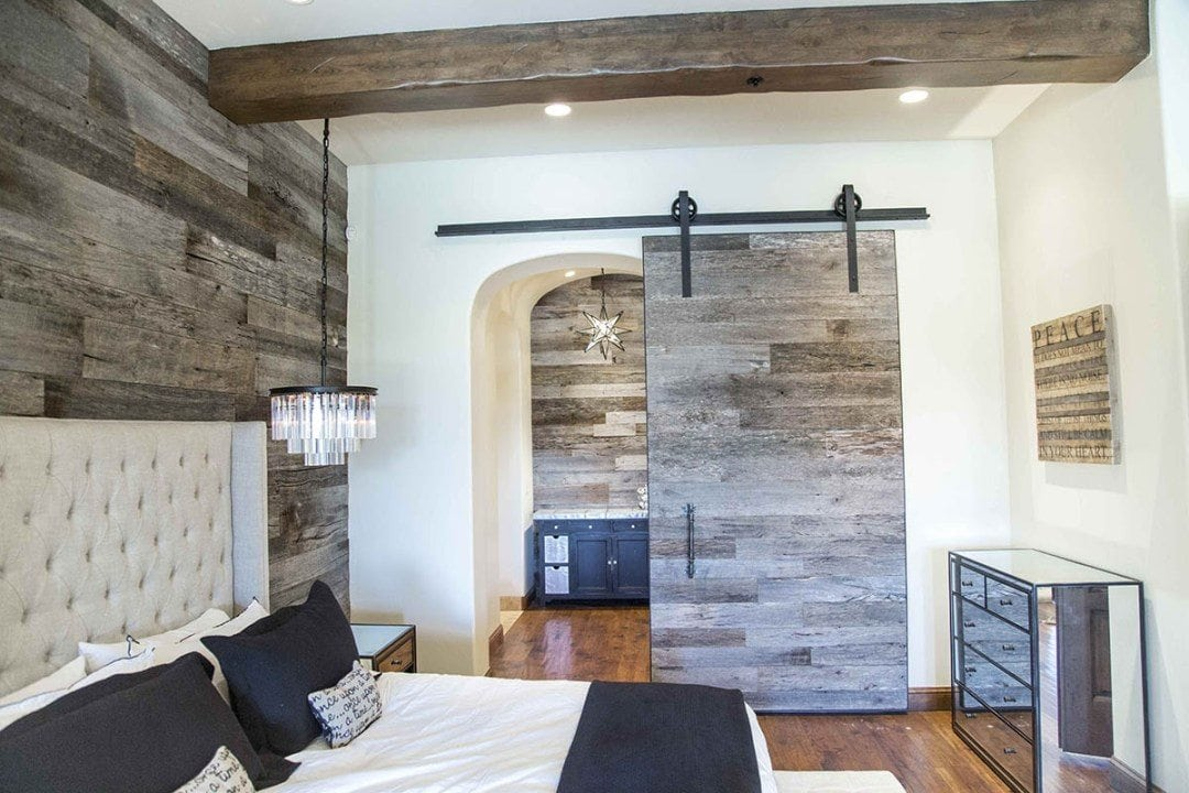 Hereu0027s A Tobacco Barn Grey Sliding Barn Door We Made For A Customeru0027s  Master Bedroom In Scottsdale, AZ. This Door Is Special For Multiple  Reasons, ...