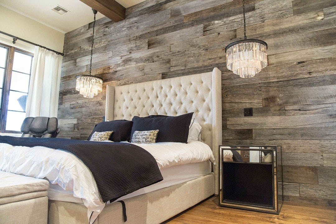 reclaimed wood peel and stick wallpaper