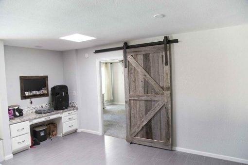 Tobacco Barn Grey Arrow Sliding Barn Door