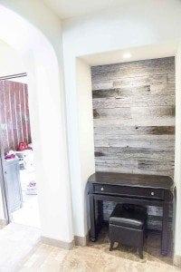 Hallway Nook Accent Wood Wall – Tobacco Barn Grey