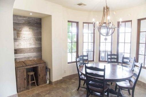 Study Nook Wood Wall Covering – Tobacco Barn Grey