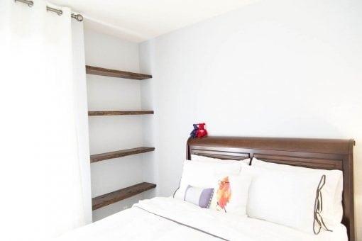 Reclaimed Oak Floating Shelves