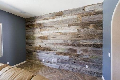 Reclaimed Tobacco Barn Grey Wood Wall