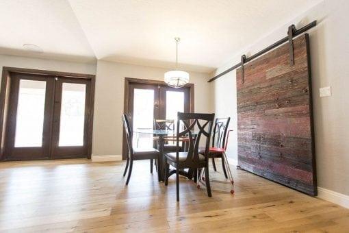 Red/Grey Hemlock Modern Contemporary Sliding Barn Door