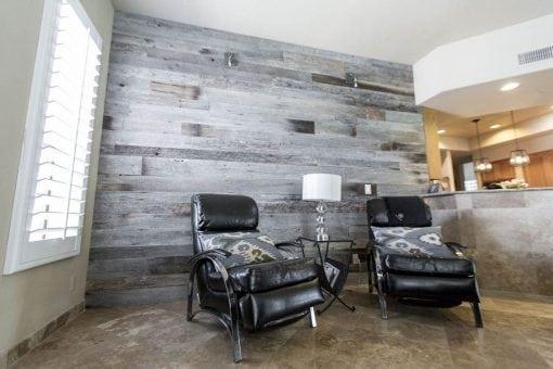 Modern Contemporary Tobacco Barn Grey Wood Wall