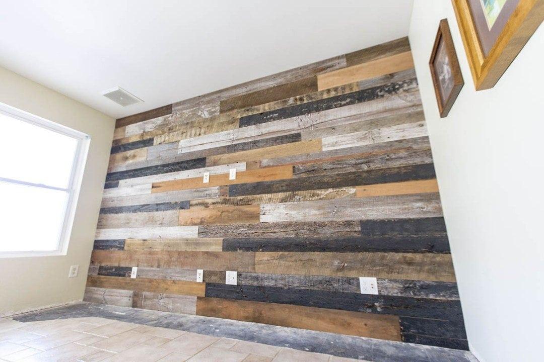 Mixed Barn Wood Media Wood Wall | Porter Barn Wood