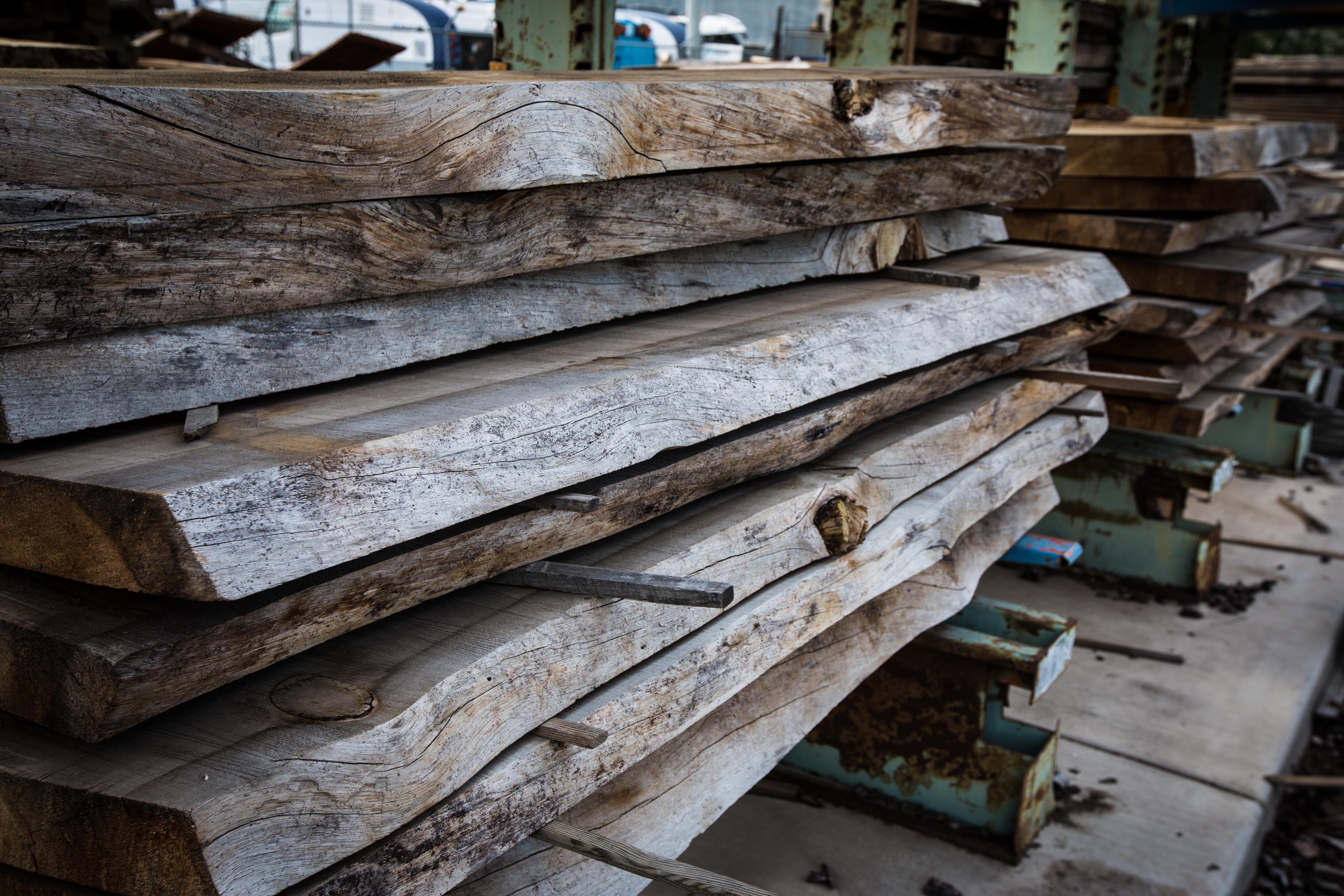 Live edge slabs porter barn wood for Live edge slab lumber