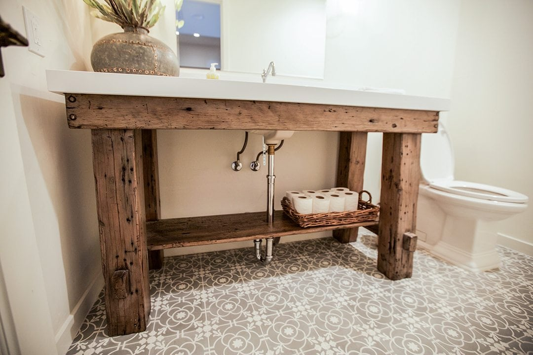 Reclaimed Wood Bathroom Sink Porter Barn Wood