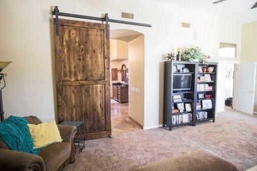 Knotty Alder 2-Panel Sliding Barn Door