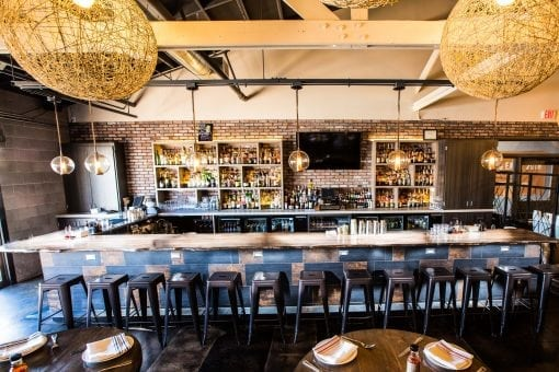 Okra Cookhouse & Cocktails Live Edge Bar Top
