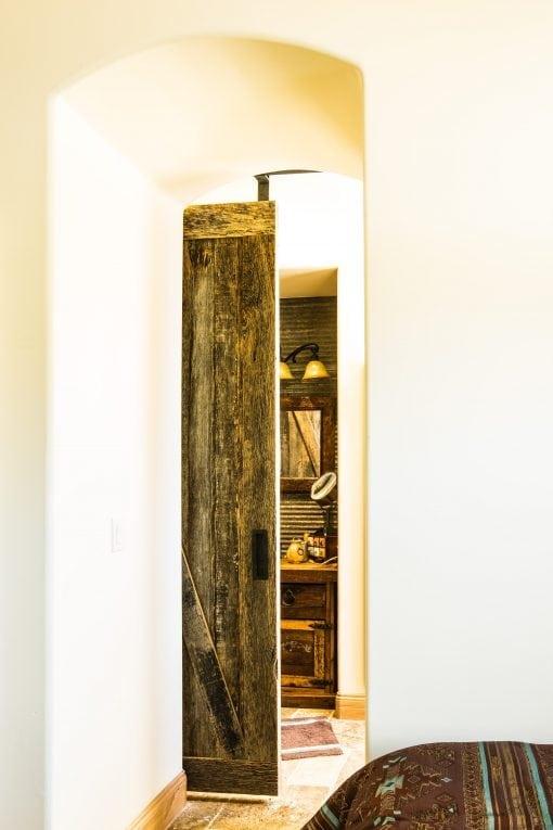 Corrugated Bathroom Wall & Sliding Barn Door