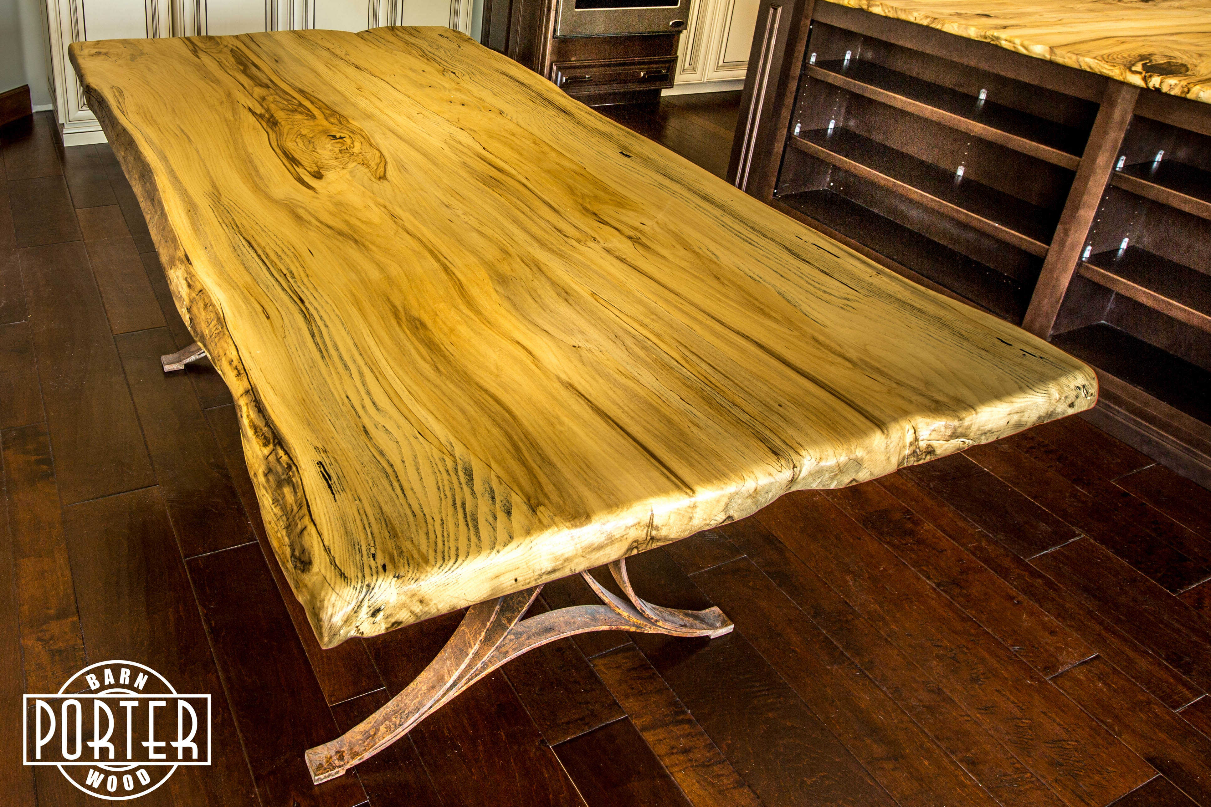 Live Edge Hackberry Dining Table | Porter Barn Wood