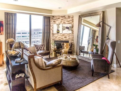 Camelback Condo – Living/Dining Room