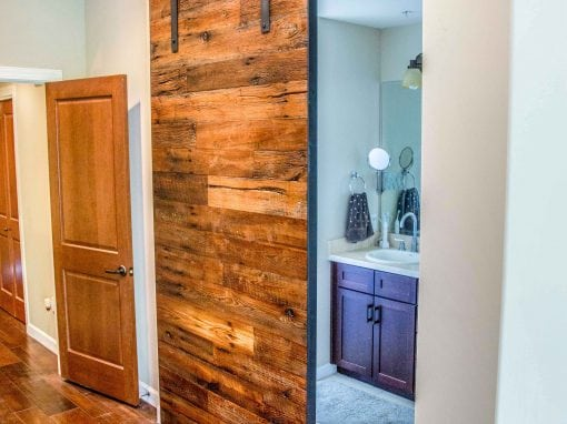 Rough Sawn Sliding Door