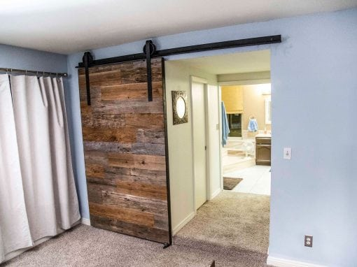 Tobacco Barn Grey & Brown Sliding Door