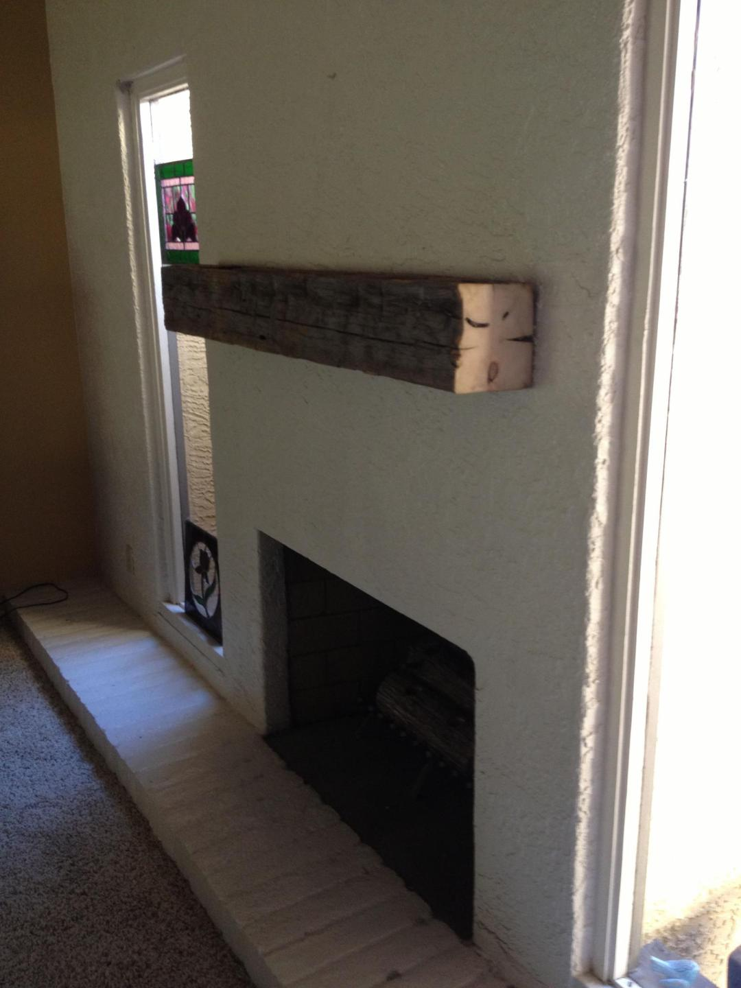 Reclaimed Beam Mantel