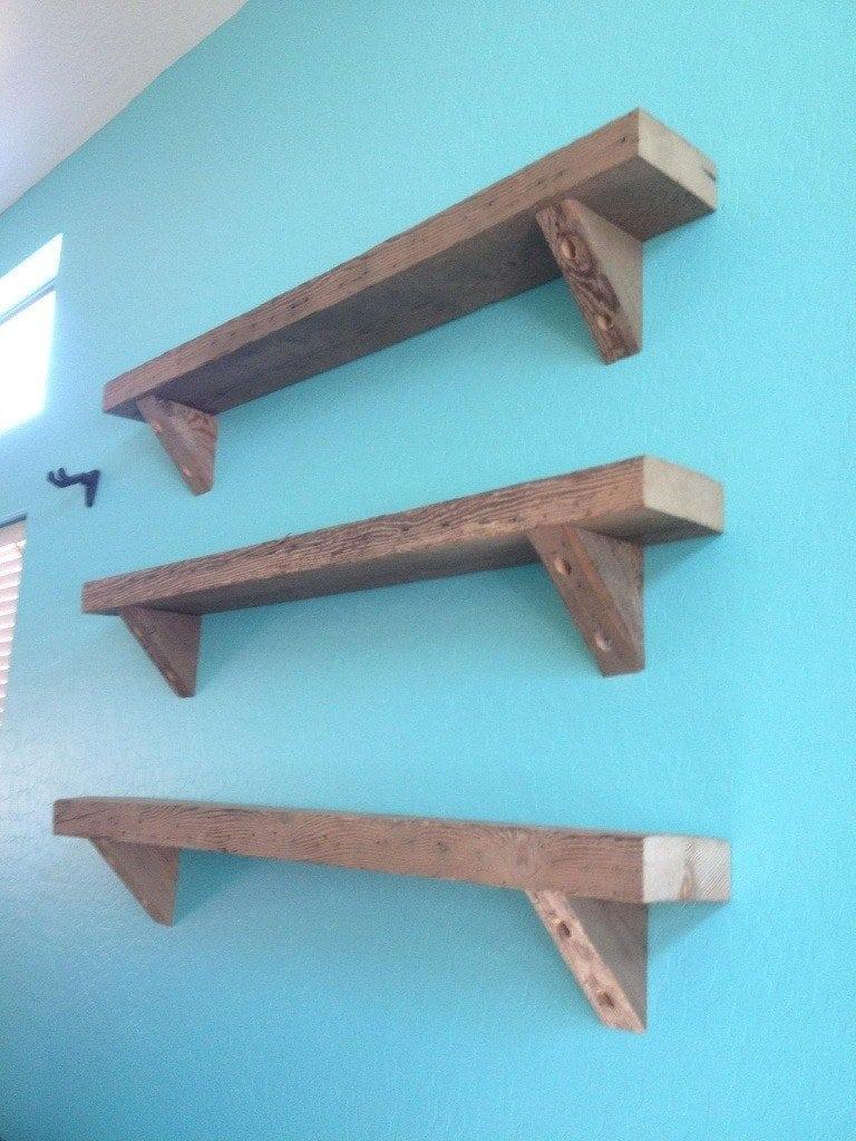 Reclaimed Hemlock Joist Shelves/Corbels