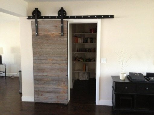 Reclaimed Grey Barn Siding Sliding Door