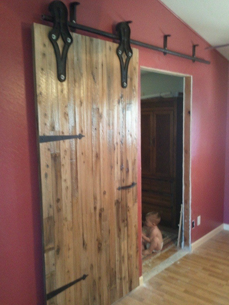 Antique Industrial Hardware Sliding Barn Door
