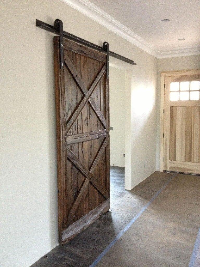 Wood sliding barn doors - 20130417 222220