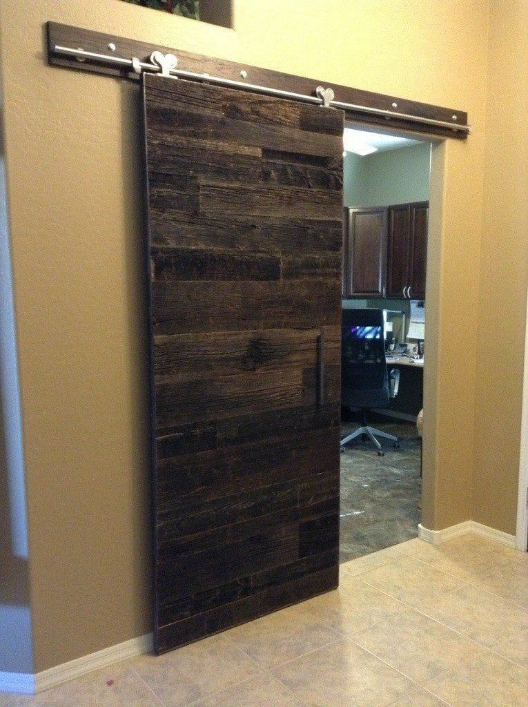 Modern Sliding Reclaimed Barn Wood Door