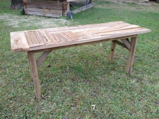Mushroom Wood Bench