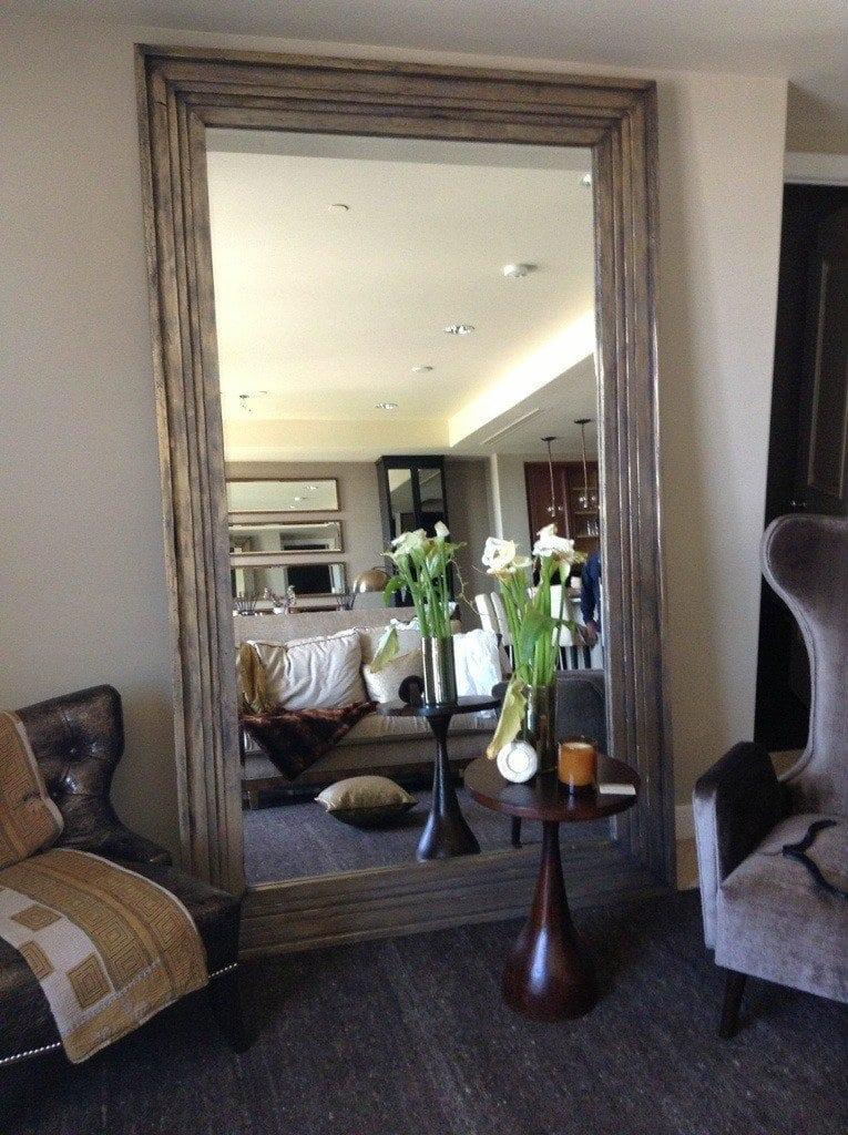 Barn Wood Mirror Rustic Home Decor: Reclaimed Poplar Mirror