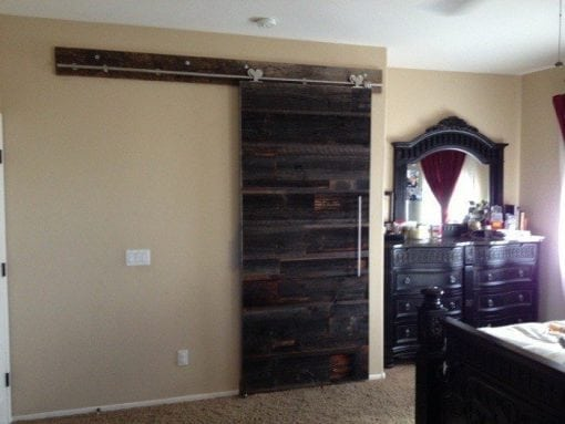 Contemporary Reclaimed Hemlock Sliding Barn Door