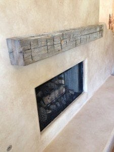 Reclaimed Beam Floating Mantel