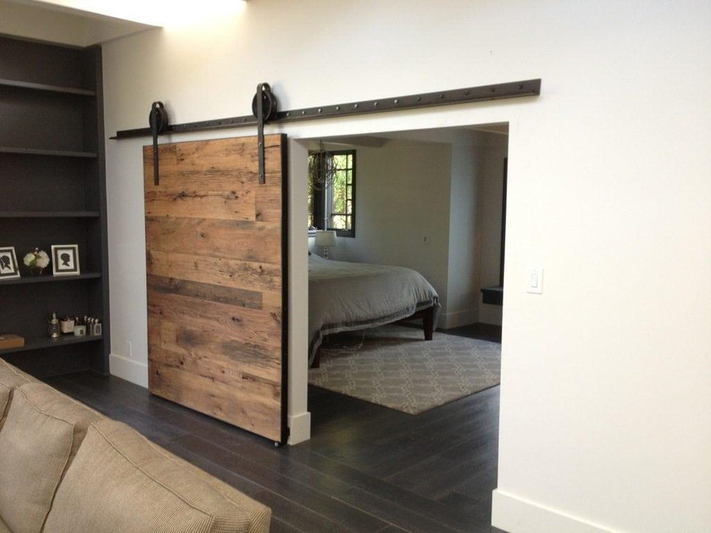 Wood sliding barn doors -