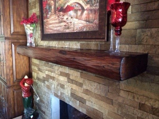 Live Edge Soft Maple Mantel