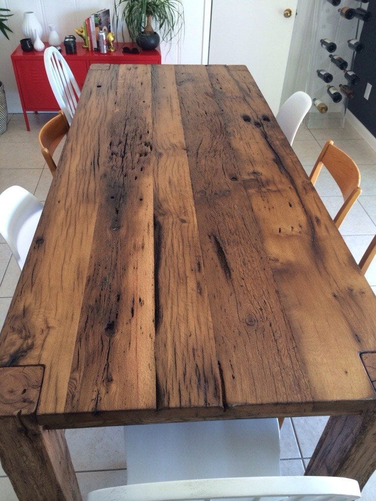 White Oak Threshing Floor Farm Table Porter Barn Wood