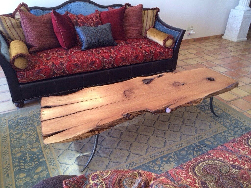 Alligator juniper slab table with steel forged legs porter barn wood 20140511 194332 geotapseo Images