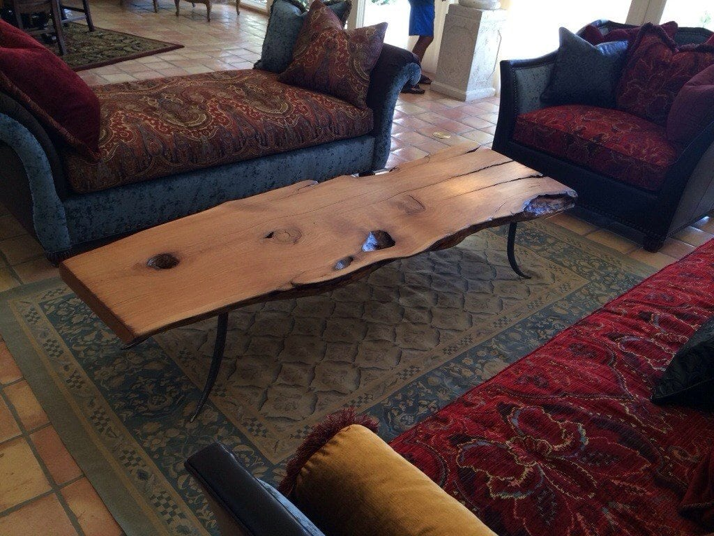 Alligator juniper slab table with steel forged legs porter barn wood 20140511 194432 geotapseo Images