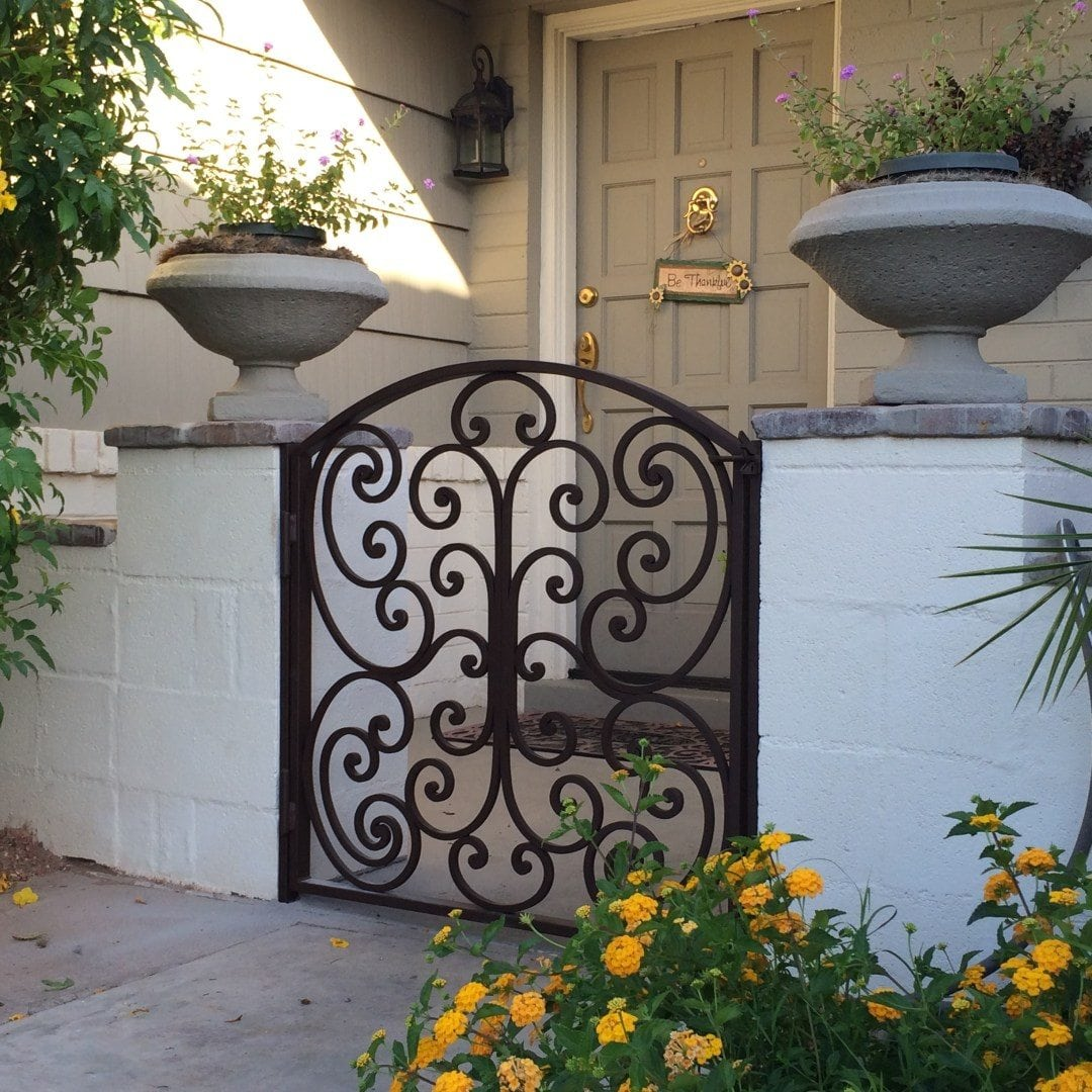 Front Entry Gate with Handmade Scrollwork