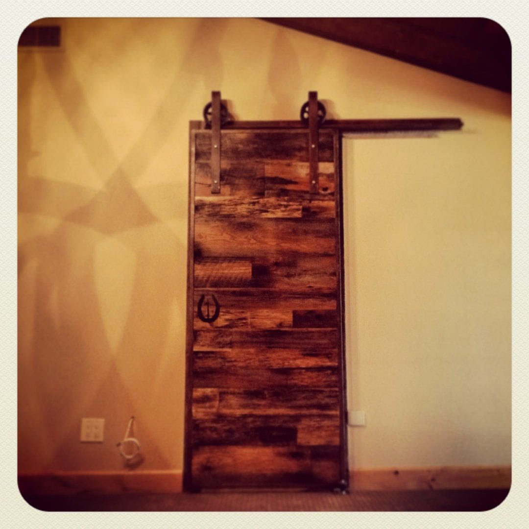 Surfaced Tobacco Barn Wood Sliding Door