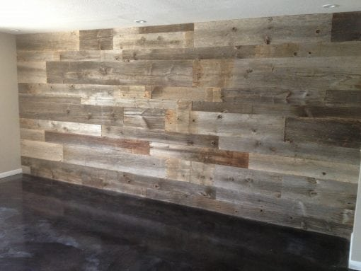 Reclaimed Grey Hemlock Siding Wall