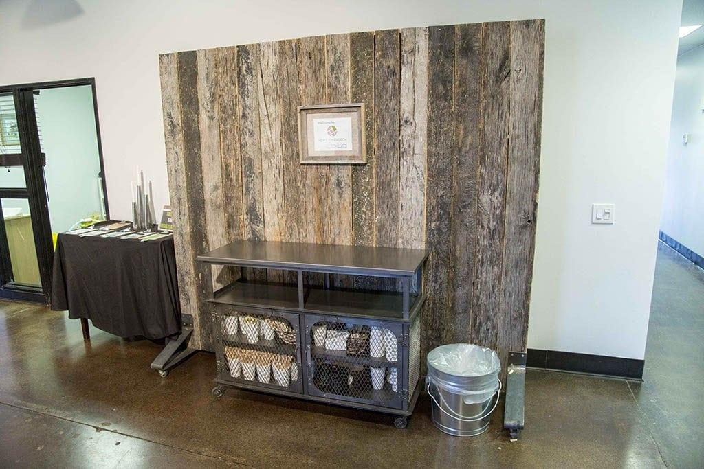 Speckled Black Reclaimed Wood Rolling Dividers