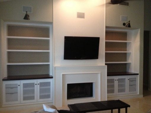 Built-Ins and Cabinet Refinish