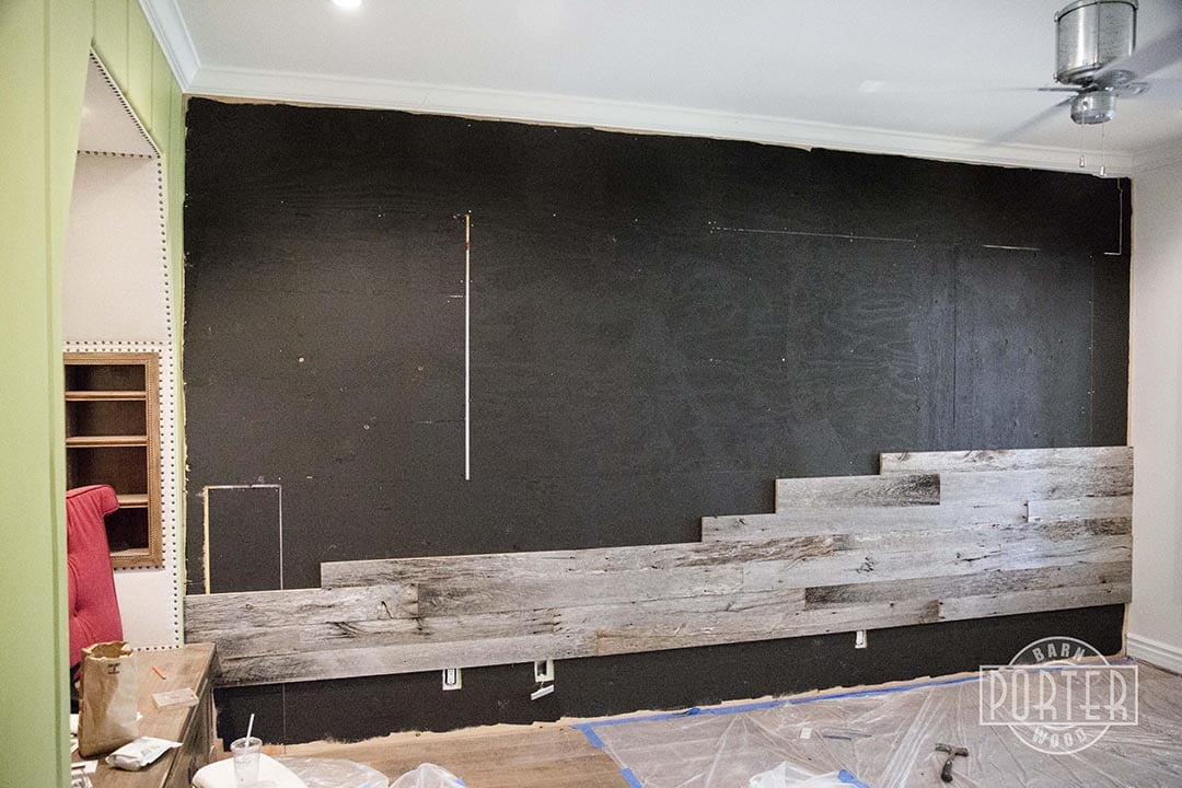 Reclaimed Tobacco Barn Grey Wall Covering