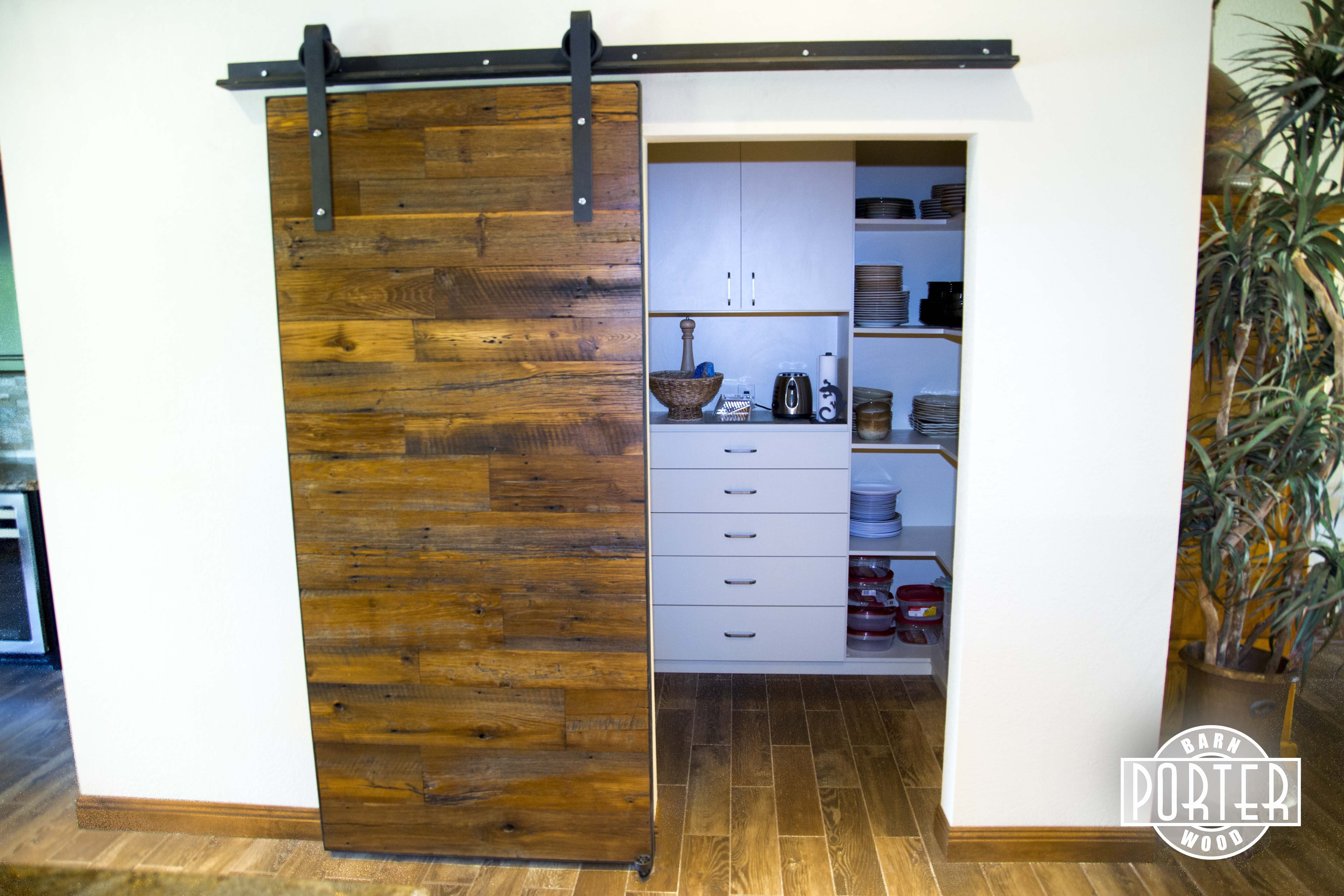 American Chestnut Sliding Barn Door