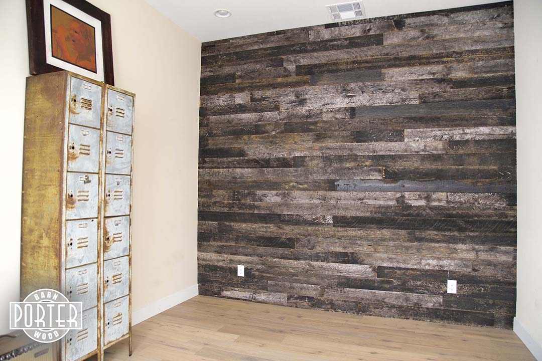 Wood Wall Covering Ideas reclaimed speckled black wood wall covering | porter barn wood