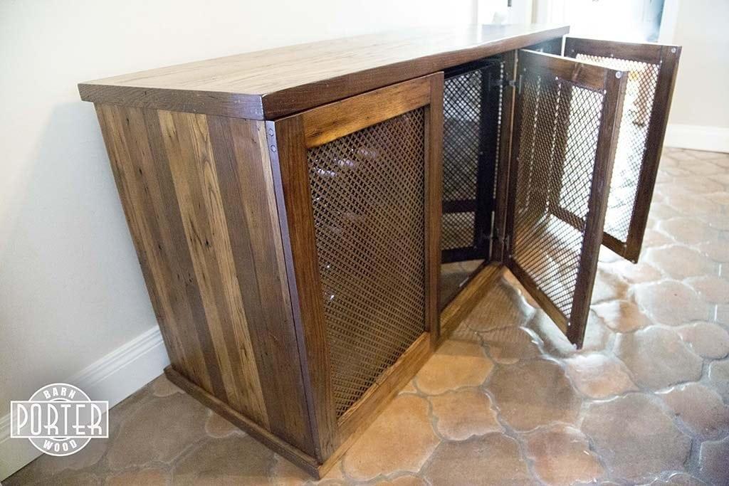 Reclaimed American Chestnut/Oak Wine Cabinet