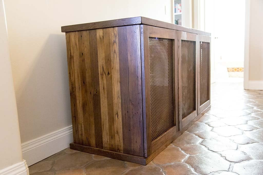 Reclaimed American Chestnut/Oak Wine Cabinet