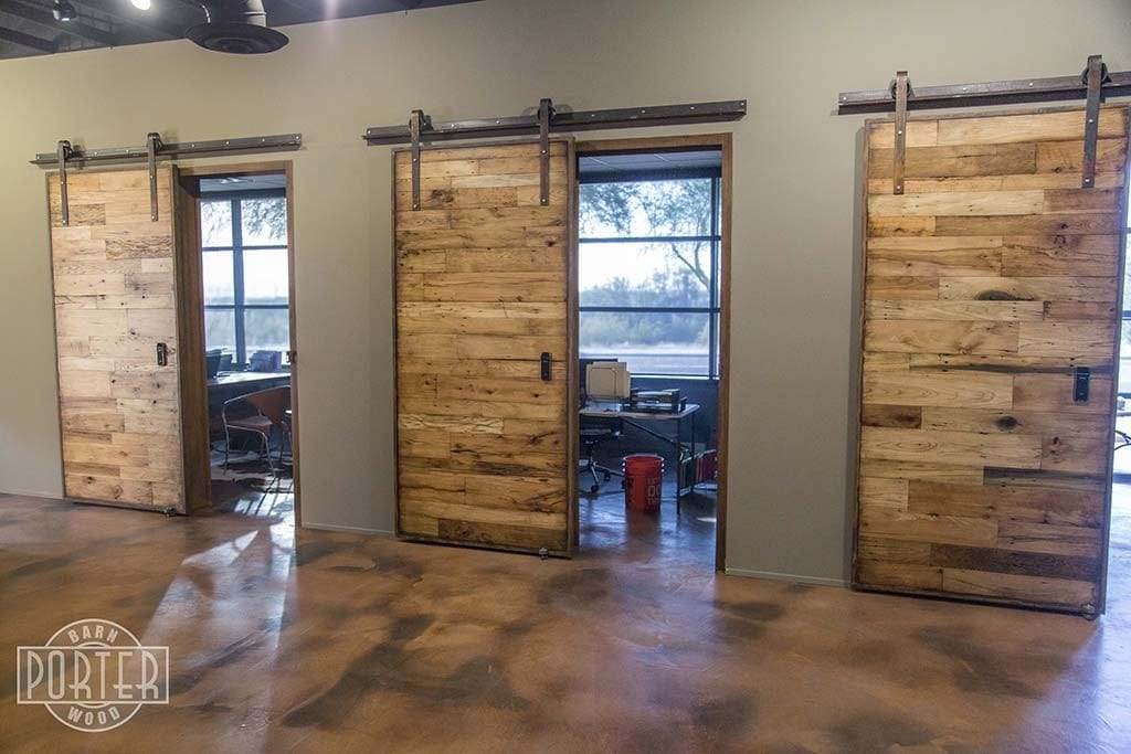 Tobacco Barn Wood Sliding Doors Hinged