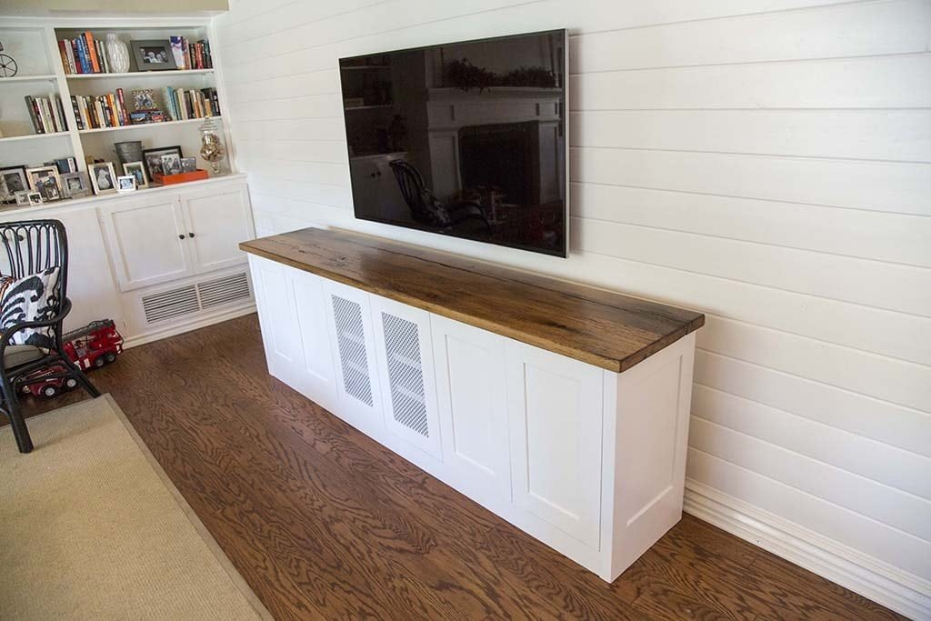 Reclaimed Oak Entertainment Center / TV Cabinet